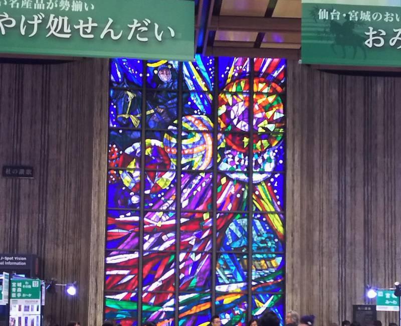 仙台駅のステグラ前