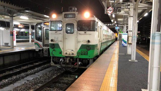 会津若松駅停車中の只見線