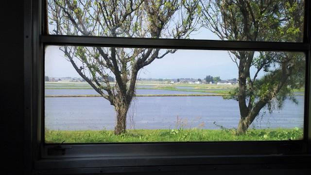 会津柳津駅出発後の只見線の車窓