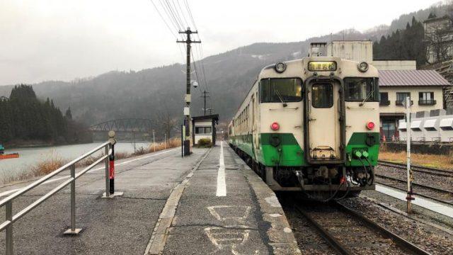会津若松駅行きの只見線