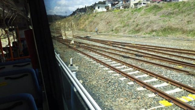 気仙沼線BRTの車窓