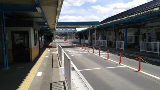 気仙沼駅のホーム