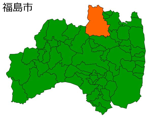 福島市の位置