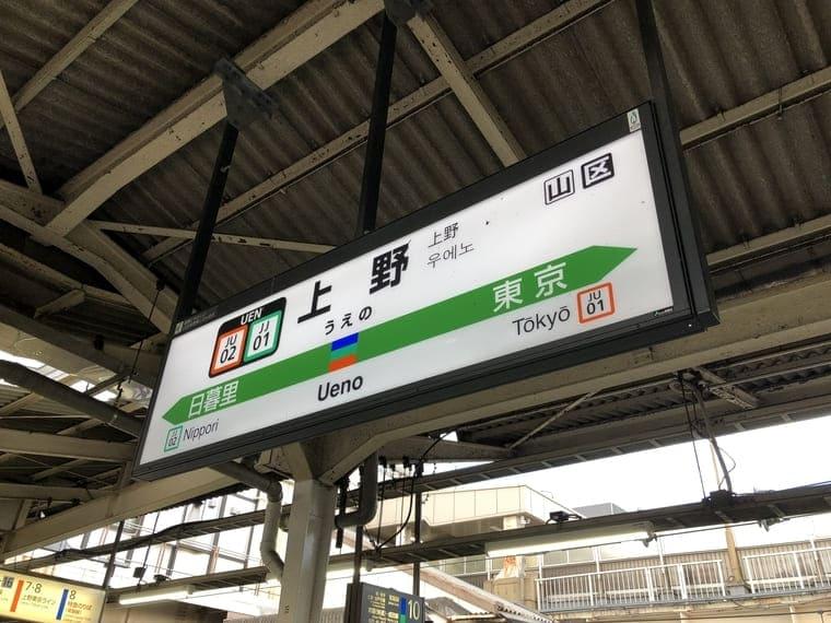 上野駅の駅表