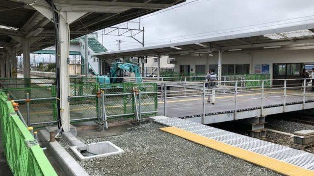 浪江駅の構内