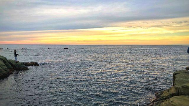 夕方の千畳敷海岸