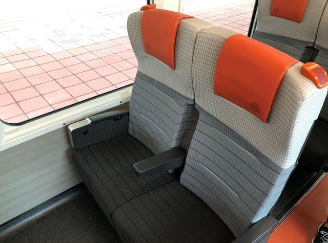 海里の1号車の座席