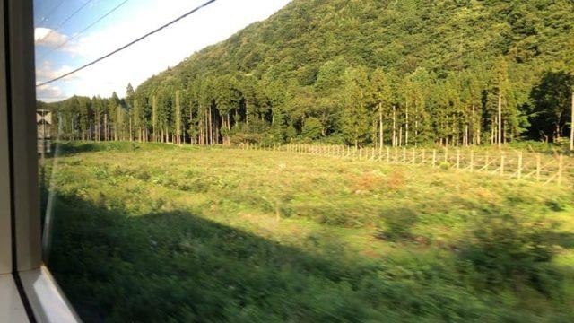 神代駅周辺の車窓