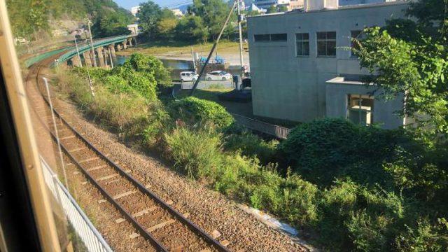 釜石線と合流する三陸鉄道リアス線