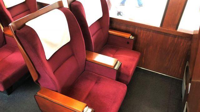 グリーン車の2人座席