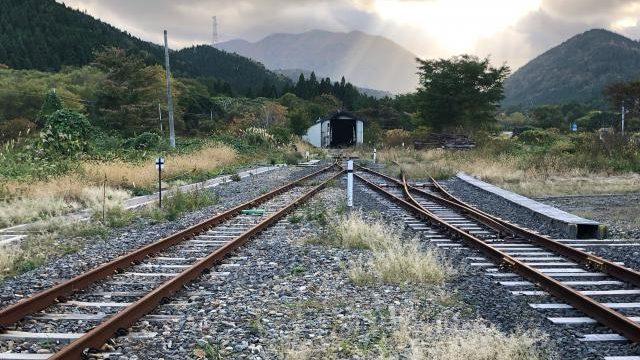 三厩駅の線路