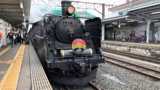 会津若松駅に停車中のSLばんえつ物語