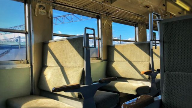 津軽線出発時の車内