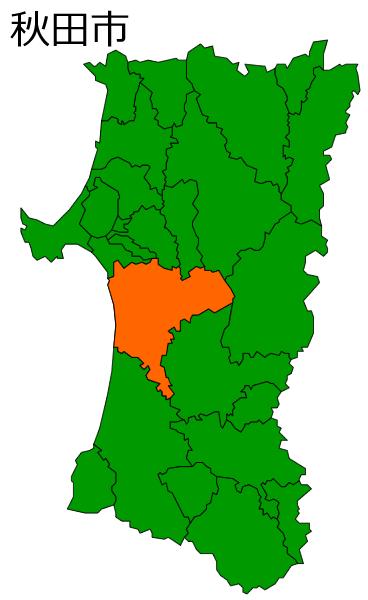 秋田市の位置