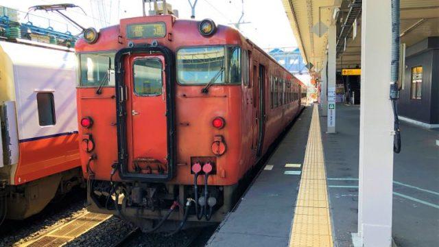 青森駅に停車中の津軽線