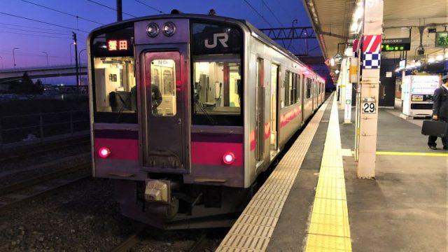 青森駅に到着した津軽線