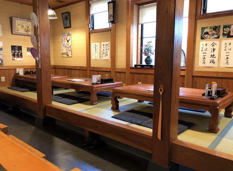 徳一のテーブル席