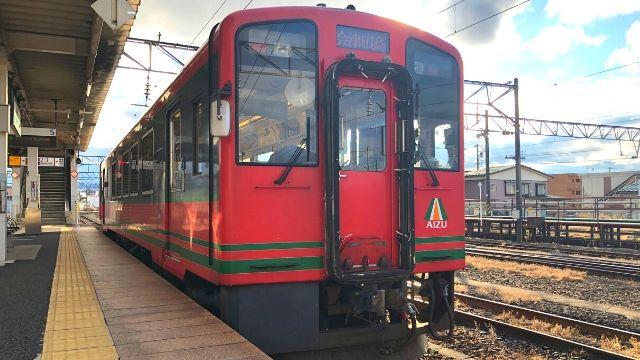 会津若松駅に停車中の会津鉄道会津線