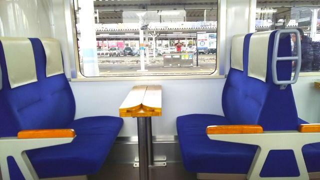 会津鉄道のボックスシート