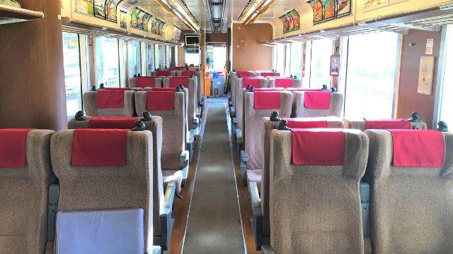 会津鉄道会津線の車内