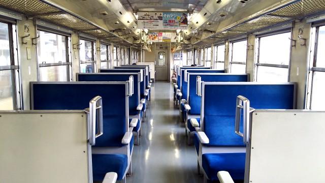 磐越西線キハ40の車内