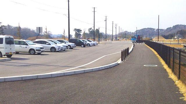 震災復興伝承館の駐車場