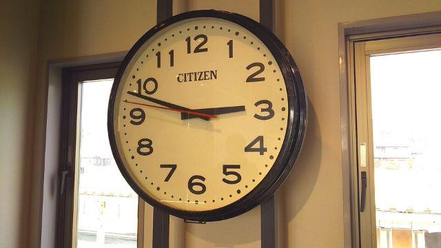 震災復興伝承館内で保存されている時計