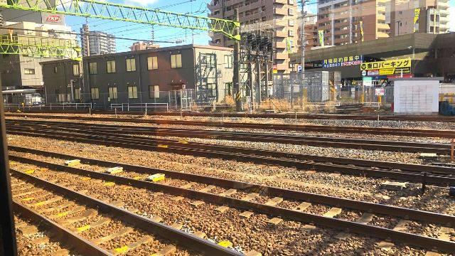 仙台駅出発後の車窓