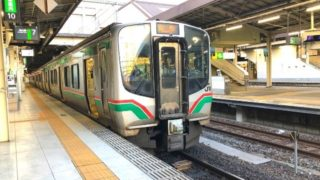 仙台駅に停車中の仙山線