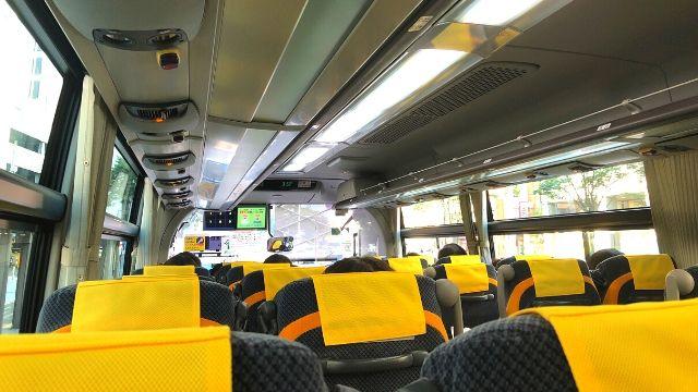 高速バス山形仙台線の座席