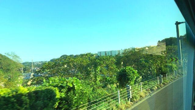 高速バス山形仙台線の車窓