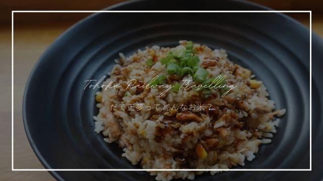 【食レポ】宮城の新米「だて正夢」は甘くてモチモチで超美味しい!