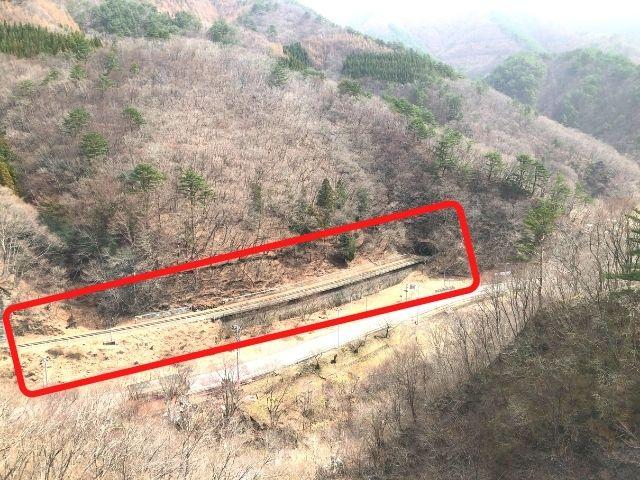オメガループに入る釜石線