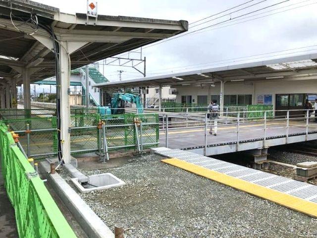 全線開通前の浪江駅構内
