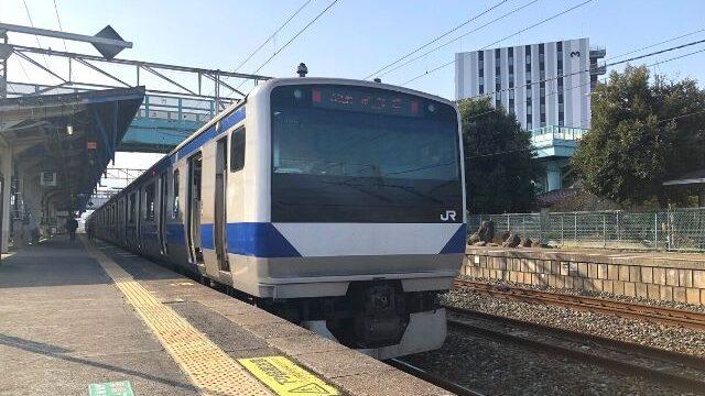 原ノ町駅に停車中の常磐線いわき行き