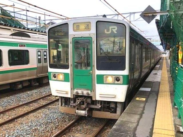 原ノ町駅に停車中の719系
