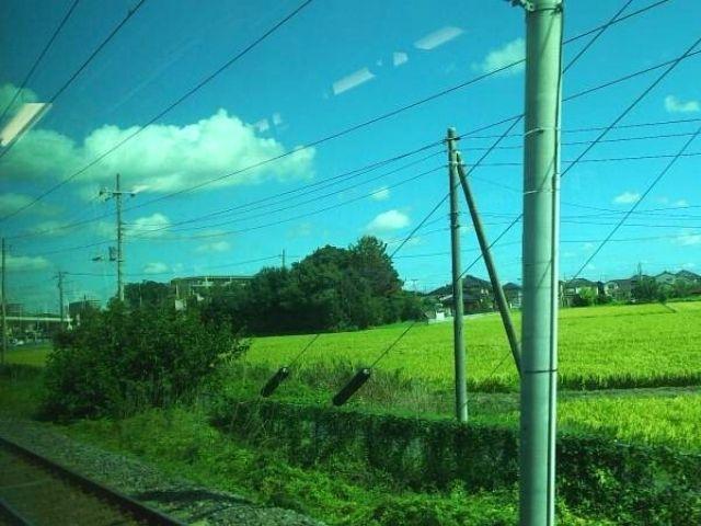 水戸駅以南の常磐線の車窓