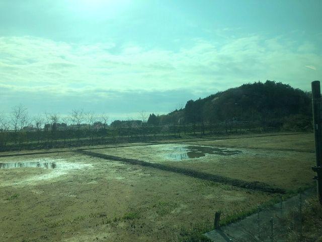 浪江駅出発後の車窓