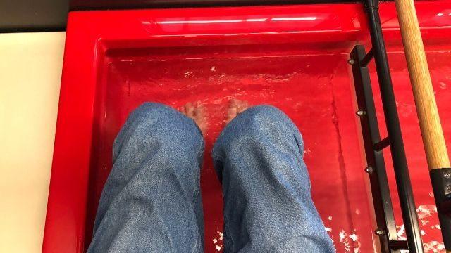 とれいゆつばさの足湯を実際に利用してみた