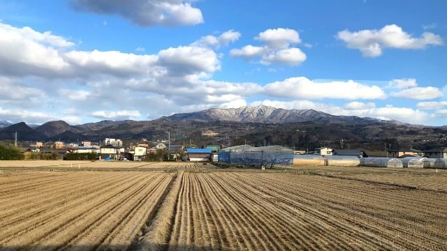 山形新幹線の車窓