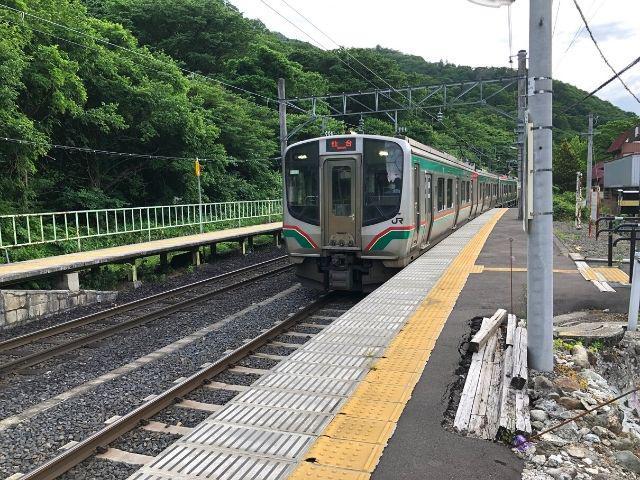 仙台行きの仙山線