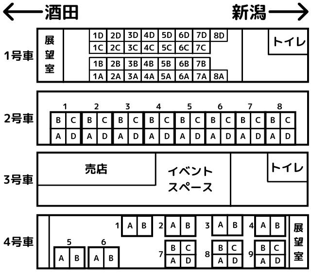 海里の座席表