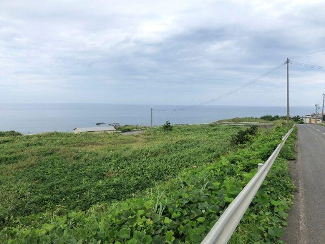 不老ふ死温泉までの道中で見える日本海