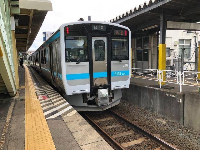 久慈駅に到着した八戸線