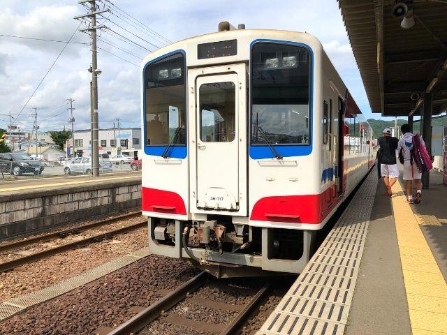 久慈駅に停車中の三陸鉄道リアス線