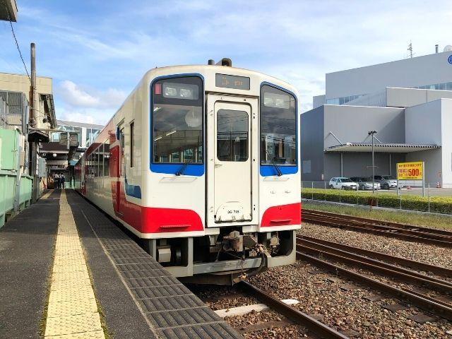 宮古駅に到着した三陸鉄道リアス線