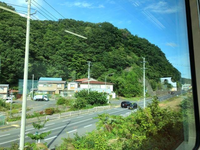 宮古駅付近の三陸鉄道リアス線の車窓