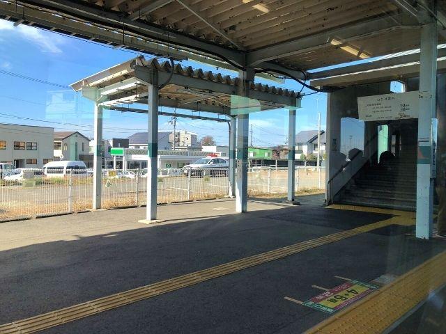 北山形駅に到着した左沢線