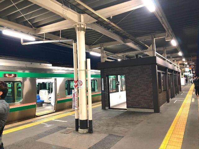 小牛田駅に到着した風っこ湯けむり号