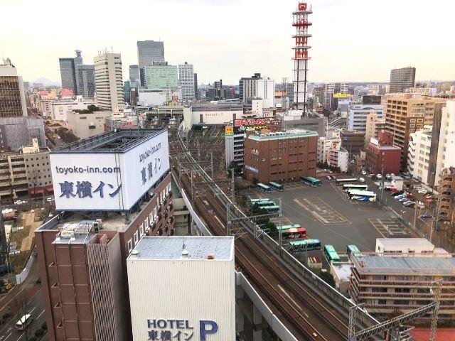 アパヴィラホテル仙台駅五橋の部屋からの風景